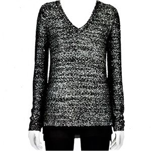 Apt 9 Knit Sweater Long Black w Sparkling Sequins